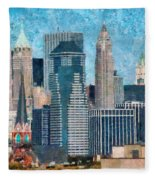 City - Ny - A Touch Of The City Fleece Blanket