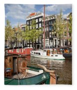 City Of Amsterdam Fleece Blanket