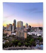 City Of Austin Texas Fleece Blanket