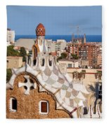 City Of Barcelona From Park Guell Fleece Blanket