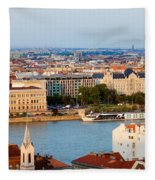 City Of Budapest Cityscape Fleece Blanket