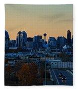 City Of Calgary Fleece Blanket