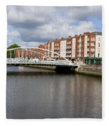 City Of Dublin In Ireland Fleece Blanket