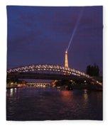 City Of Lights Fleece Blanket