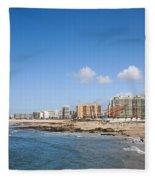 City Of Matosinhos Skyline In Portugal Fleece Blanket
