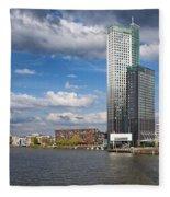 City Of Rotterdam In Netherlands Fleece Blanket