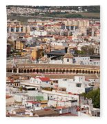 City Of Seville Cityscape In Spain Fleece Blanket