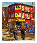 City Paint Benjamin Moore Rue Rachel And Hotel And De Ville Montreals Oldest Paint Store  C Spandau  Fleece Blanket