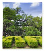 City Park New Orleans Louisiana Fleece Blanket