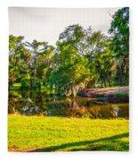 City Park New Orleans Fleece Blanket