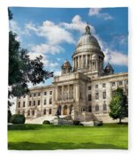 City - Providence Ri - The Capitol  Fleece Blanket