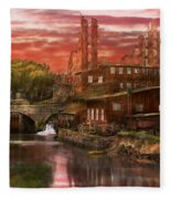 City - Richmond Va - After The Fighting Stopped - 1865 Fleece Blanket