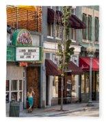 City - Roanoke Va - Down One Fine Street  Fleece Blanket
