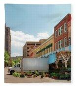 City - Roanoke Va - The City Market Fleece Blanket