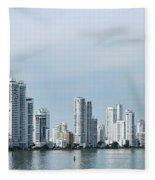City Skyline, Castillogrande Fleece Blanket
