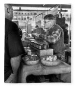 City - South Street Seaport - New Amsterdam Market - Apples And Mustard Fleece Blanket