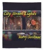 City Street Lights Fleece Blanket