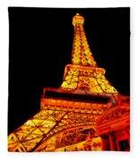 City - Vegas - Paris - Eiffel Tower Restaurant Fleece Blanket