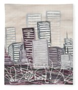 Cityscape Fleece Blanket