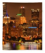 Cityscape Of Color Fleece Blanket
