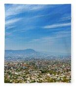 Cityscape Of Tuxtla Chiapas Fleece Blanket