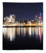 Cityscape - Philadelphia Fleece Blanket