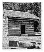 Civil War Cabin Fleece Blanket