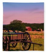 Civil War Caisson At Gettysburg Fleece Blanket