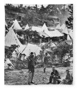 Civil War Hospital, 1860s Fleece Blanket