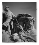 Civil War In Washington Fleece Blanket