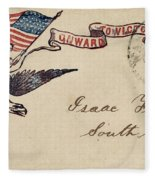 Civil War Letter 18 Fleece Blanket