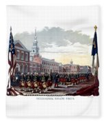 Civil War Philadelphia Zouave Corps Fleece Blanket