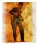 Civil War Soldier Photo Art Fleece Blanket