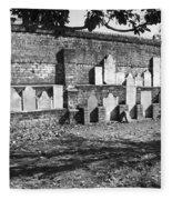 Civil War Wall Of Tombstones Savannah Georgia Fleece Blanket