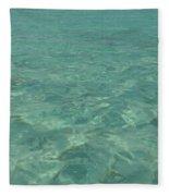 Clear Water Of Guam Fleece Blanket