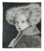 Clara Bow Fleece Blanket