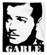 Clark Gable Black And White Pop Art Fleece Blanket