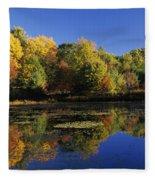 Clark Pond - Auburn New Hampshire  Fleece Blanket