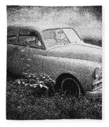 Clasic Car - Pen And Ink Effect Fleece Blanket
