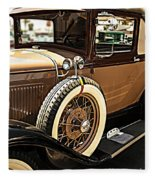 Classic 1928 Ford Model A Sport Coupe Convertible Automobile Car Fleece Blanket
