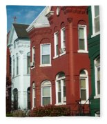 Classic American Architecture In Washington Dc Fleece Blanket