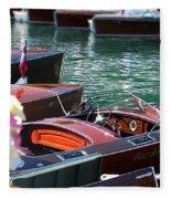 Classic Boats In Lake Tahoe Fleece Blanket