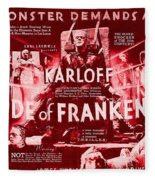 Classic Bride Of Frankenstein Poster Fleece Blanket