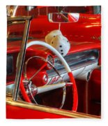 Classic Cadillac Beauty In Red Fleece Blanket
