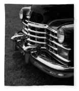Classic Cadillac Sedan Black And White Fleece Blanket