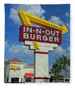 Classic Cali Burger 1.1 Fleece Blanket