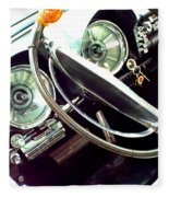 Classic Car Odometer Fleece Blanket