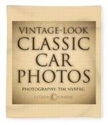 Classic Car Photo Title Nfs Fleece Blanket