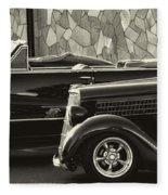 Classic Car Show Fleece Blanket