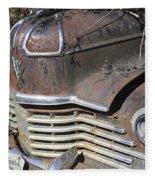 Classic Car With Rust Fleece Blanket